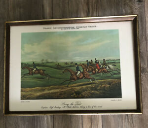 Fox Hunting 1829 Print H Alken Going To Pace  Engraved C Bentley Copy