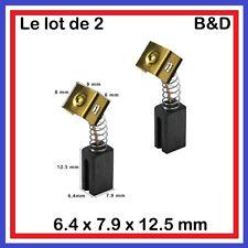 Les 2 Charbons Black & Decker CD105 CD110 CD115 KG900 KG915 KG725 AST6 AST6XC