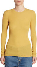 V120 NWT VINCE 100%25 CASHMERE RIBBED CREWNECK WOMEN SWEATER SIZE S $255