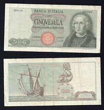 RR 5 mila lire Colombo 1° Tipo 1970  (NUMERI RADAR)
