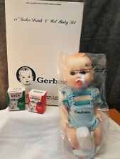 "Vintage Gerber Drink & Wet Baby Doll 11"" New in Box 1992"