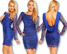 Mayaadi Kleid Minikleid Chiffon Häkel Spitze Abendkleid Spitzenkleid Hochzeit BS