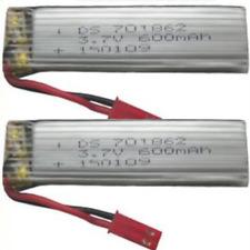 2 PCS 3.7V 600mAH Lithium Battery for Syma Udi WLToys S032G V959 V929 U818