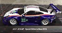 Porsche 911 RSR Le Mans 2018 Rothmans 2. Place 1:43 Limited Minichamps Spark NEW