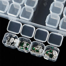 28 Slots Jewelry Bead Storage Box Plastic Nail Art Tools Hot Case Clear