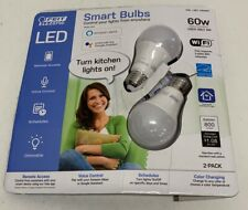 FEIT Electric Smart LED Bulbs Remote Access Dimmable 60w Open Package