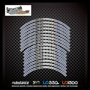 Beta 18 21 Inch Blue Stripe Factory Rim Tapes Decal Sticker Trials (661)
