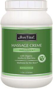 Bon Vital' Organica Massage Crème, Professional Therapy Cream Certified Organic