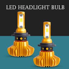 Pair H7 LED Headlight FOG LAMP Bulb Conversion Kit Low Beam 1500W 275000LM S9-GD