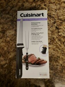 Cuisinart CEK-41  Electric Knife Set With Cutting Board, Serving Fork New
