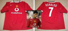 CRISTIANO RONALDO hand signed autographed Manchester United Retro 2004-05 Jersey