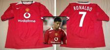 CRISTIANO RONALDO hand signed autographed Manchester United Retro 2004-05 Jersey