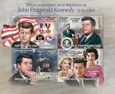 Kennedy JFK Apollo 11 Space M Monroe m/s Central Africa 2013 Mi.4022-25 CA13207a