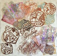 Craft clearout, card toppers, paper die cuts, bundle joblot Christmas mix