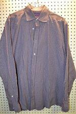 Ralph Lauren Large Long Sleeve Button Up Shirt Purple Plaid Large Mens ADJJ