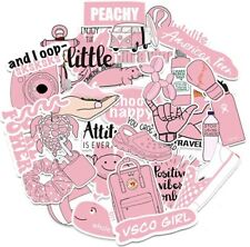 50 Pack Pink Aesthetic Girls Babygirl VSCO Stickers To Decorate