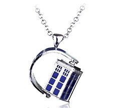 NEW Dr Who Tardis Police Box Pendant Necklace - Perfect Gift