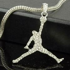"Air Jordan Iced Out SP Pendant/Necklace With 24"" Franco Snake Chain"