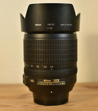 NIKON DX AF-S NIKKOR 18-105MM 1:3.5-5.6G ED VR LENS WITH LENS CAPS HOOD & UV