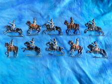 Plats d'étain HEINRICHSEN - Zinnfiguren - 10 cavaliers prussiens second empire