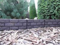 Plastic Garden Fence Panels Boarder Lawn Palisade Edge Patio Fencing BROWN BJM