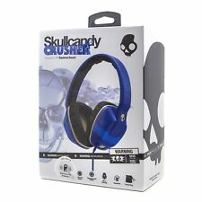 Skullcandy CRUSHER Overear Headphones with Built-in Amplifier and Mic-Royal Blue