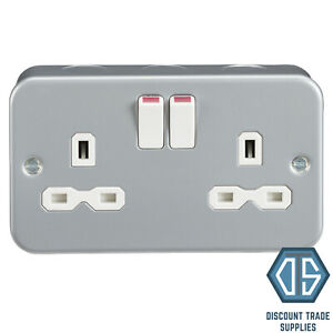 5 X Metal Clad Double Switches  FREE POSTAGE