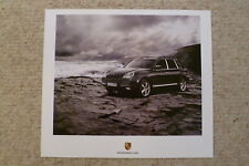 2007 Porsche Cayenne Showroom Advertising Sales Poster RARE!! Awesome L@@K