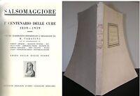 1939 SALSOMAGGIORE 1 CENTENARIO DELLE CURE Varanini terme Parma Idroclimatologia