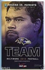 Baltimore Ravens VS New England Patriots 2012 Program Haloti Ngata