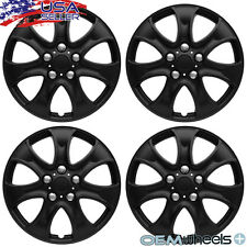"4 NEW OEM MATTE BLACK 15"" HUBCAPS FITS CHEVROLET CHEVY CENTER WHEEL COVERS SET"
