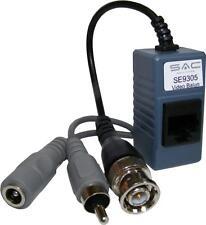 5x Pairs of CCTV Video & Audio CAT5E Baluns. Run CCTV via Cat5E Cable - SE9305