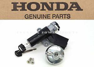 Genuine Honda Ignition Keys Switch Cap Lock Set 02-05 CHF50 Metropolitan #G91