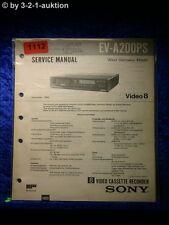 Sony Service Manual EV A200PS Video Cassette Recorder (#1112)