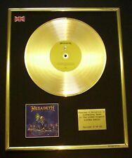 MEGADETH RUST IN PEACE CD GOLD DISC LP FREE P+P!