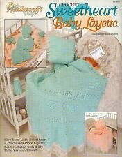 USED SWEETHEART BABY LAYETTE AFGHAN BOOTIE HAT PILLOW CROCHET PATTERN BOOK RARE