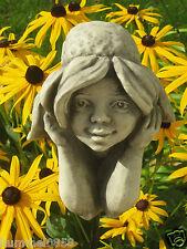 Betonguss Blumenkind Sonnenhut Gartenfigur Skulptur Dekoration Gartenstab Figur