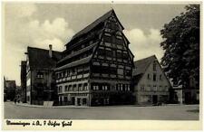 MEMMINGEN Bayern ~1930/40 alte Postkarte Häuser Partie mit Fachwerk
