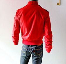 Vintage Red 80s Members Only Racer Jacket Spring Summer Europe Craft  S M 36 38