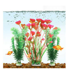 3PCS Artificial Aquarium Plant Plastic Pet Fish Tank Water Grass Decor Ornament