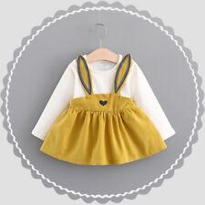 Toddler Baby Kids Girl Autumn Long Sleeve Princess Tutu Dress Wedding Party Gown