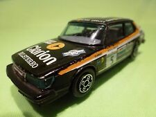 BBURAGO 4101 SAAB 900 TURBO - STIG BLOMQUIST No 5 - BLACK 1:43 - GOOD CONDITION