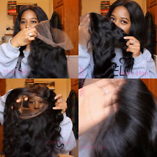 360 lace frontal closure 100% human hair Brazilian 12 INCH Bodywave,9A FAST SHIP