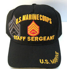 U.S MARINE MASTER SERGEANT VETERAN Cap/Hat W/ Flag Black FREE SHIPPING