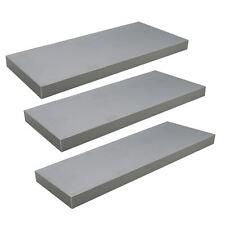 Floating Wooden Wall Shelves Shelf Wall Storage 60cm - Grey - x3