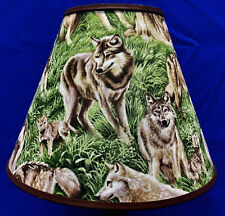 Wolf Wolves Grass Lampshade Handmade Lamp Shade