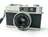 Vintage Konica C 35 Automatic 38m Point & Shoot Camera Untested AS IS