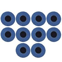 1X(10Pcs Flat Flap Discs 120 Grit Change Grinding Wheels 2 Inch for Rotary Z9A1