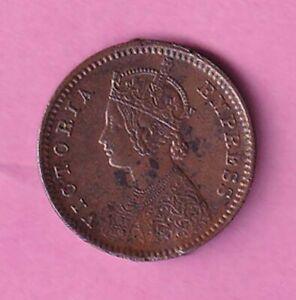 1883 British India Victoria Empress 1/12 Anna copper coin