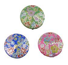 Pack de 5 Fleur Imprimé perles ronde plate (59004-193)